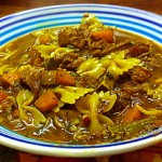Lamb Shank Soup with Farfalle